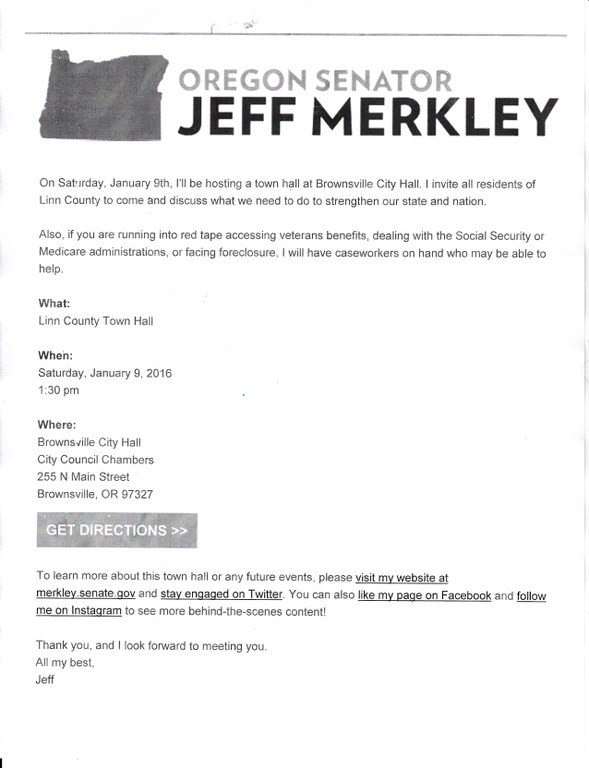 Jeff Merkley to Visit Brownsville